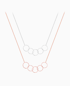 1046146 - <SL494_BE00> [银色] Ilyana泡沫项链