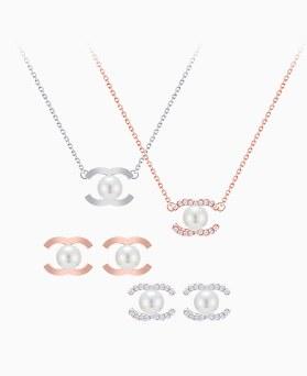 1046298 - <JS32_BD00> [项链+耳环] [银色]珍珠眼收藏