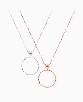 1046377 - <NE435_BD00> [银色]快板环项链