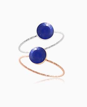 1046388 - <RI752_AG07> [银色]青金石蓝宝石戒指