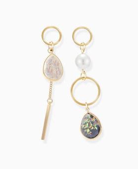 1046394 - <ER1417_S> [售完即将来临] [银针]均衡梦幻般的宝石耳环