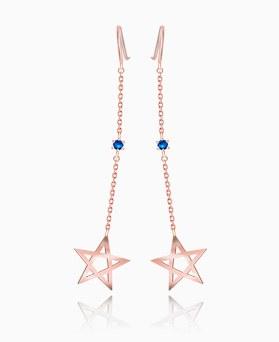 1046406 - <ER1425_BG02> [银色]星星Ann蓝色耳环