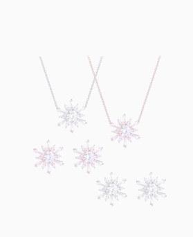 1046519 - <JS55_ID03> [耳环+项链] Tarry雪花儿集