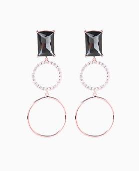 1046530 - <ER1561_CC18> [银针]战神立方圆耳环环