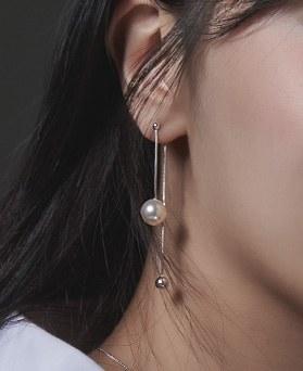 1046682 - <ER1580_BE00> [银色] Reta珍珠耳环