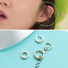 223168 - <ER337-JA10> [当日发货] [泰拳公司的太阳] [10k金]最小环(耳罩)耳环
