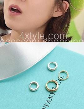 223168 - <ER337-JA10> [当天发货] [十大耶和华的太阳] [10k金]最小环(耳罩)耳环