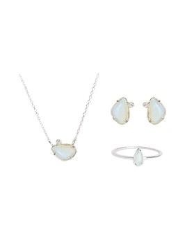 1046744 - <JS59_BE08> [项链+耳环+戒指] [银色]天娜收藏
