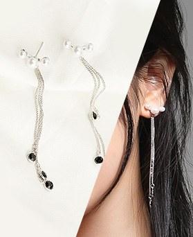1046782 - <ER1619_CD16> [银针] Botteon珍珠长度耳音圈