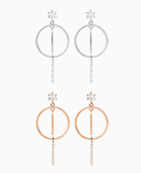 1046881 - <ER1648_CC08> [银针] Avalon圆耳环环