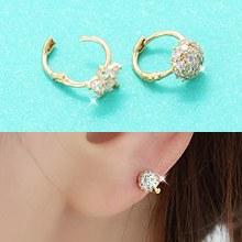 226837 - <K14J005-JA10> [最爱KooAeJeong] [10k金]立方点环(耳)耳环