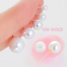 230306 - <K14J012-GI17> [单卖] [10K金]核珍珠耳环