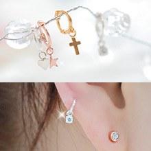 230052 - <SL307-JA09> [最爱KooAeJeong] [奇异销售] [银色]迷你呢(耳罩)