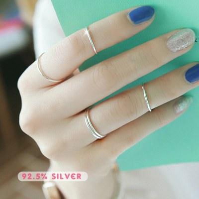 1043492 - <RI433-AA12> [银色]细腻的表面环