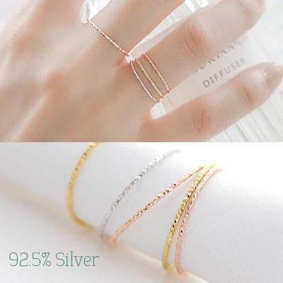 1043733 - <RI471-JB12> [银色]意大利纤细戒指