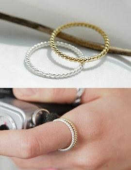 219710 - <SL113-JA03> [我想念你] [小指兼用] [银色]单简单环