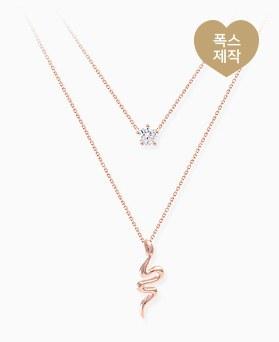 1046317 - <NE446_BE00> [当天发货] [银] Snake Ann cube项链