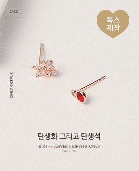 1046746 - <ER1606_IG15> 诞生花和诞生石耳环