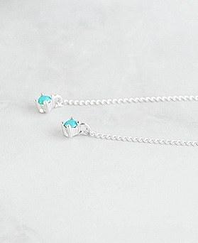 1047747 - <ER1959_DD25> [银色]简单链条长耳环