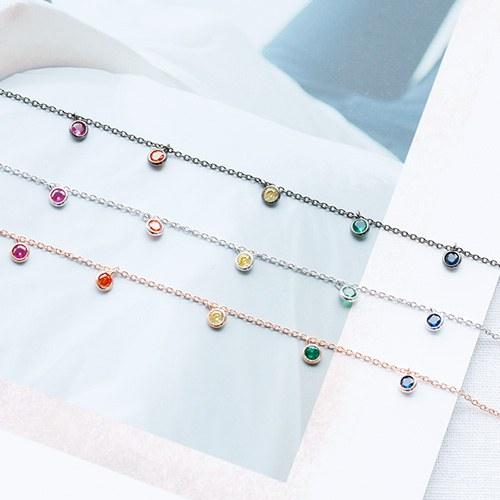 1047825 - <NE541_IF10>彩虹水晶项链
