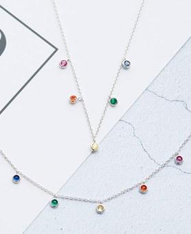1047827 - <JS327_IF10> [项链+脚镯]彩虹水晶集