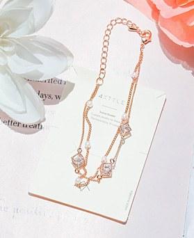 1047963 - <BC777_IH15> Lany珍珠链条镯子