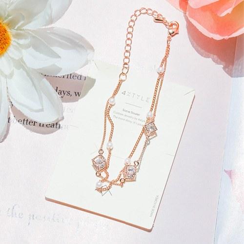 1047963 - <BC777_IH15>兰尼珍珠链条镯子