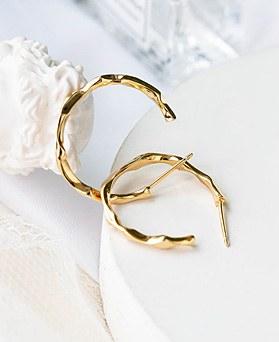 1048196 - <ER2035_DG14> [银色]简单Curve环耳环