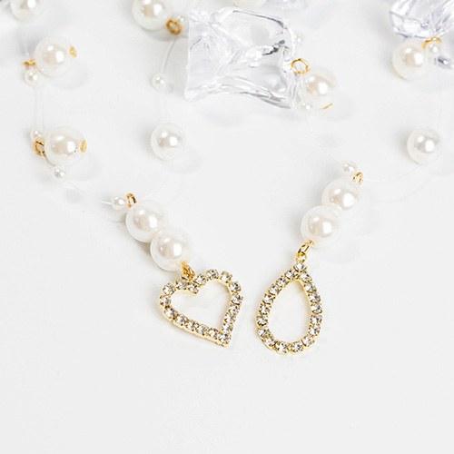1048260 - <NE552_BB17> Eli珍珠短项链项链