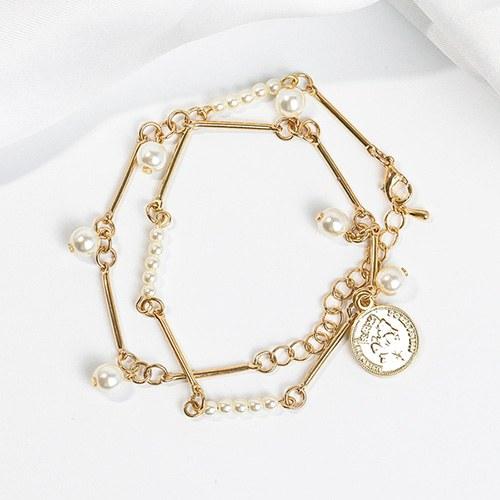 1048269 - <NE553_BA18> [镯子兼用] Treasure硬币短短项链项链项链