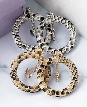 1048491 - <ER2091_CB13>蛇双向耳环