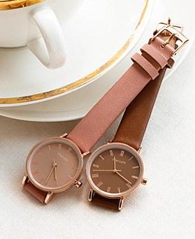 1048564 - <WC128_BE10>摩登皮革手表