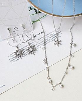 1048926 - <JS343_IG06> [耳环+项链]水晶雪集