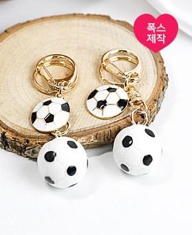 1049086 - <AP0486> [手工制作]小足球钥匙圈