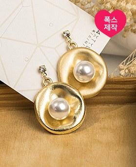 1049098 - <ER2172_DF28> [手工制作] [银针] smooth珍珠