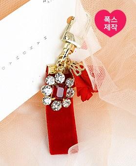 1049130 - <AP0497> [手工制作]水晶胸花钥匙圈