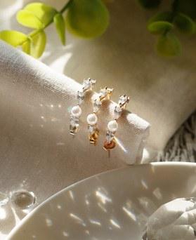 1049215 - <ER2181_DH20> [银色] Marona珍珠环耳环