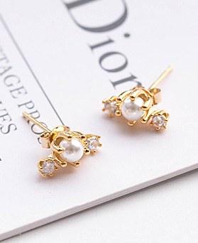 1049275 - <ER2186_DJ08> [银色]三重珍珠耳环
