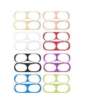 1049311 - <AP0540> 2个与金属AirPod Pro兼容的防铁粉贴纸