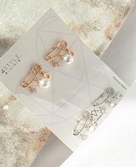 1049386 - <ER2195_IF14> [银针] Uni夹式珍珠耳环