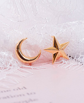 1049507 - <ER2212_DH29> [银色]符文星星不平衡耳环