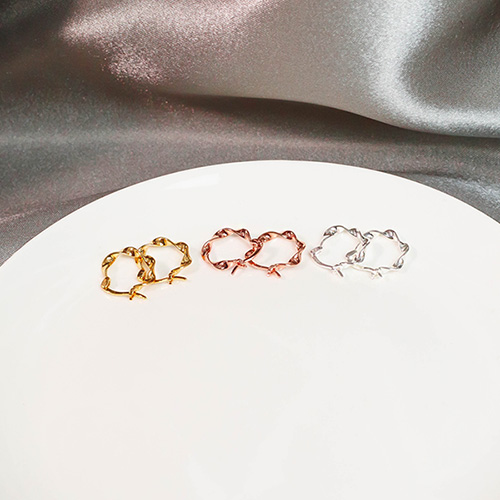 1049525 - <ER2220_DI28> [银色] Nina波耳环