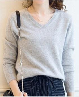1049615 - 羊绒V字领针织