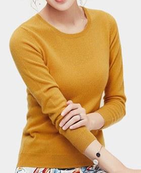 1049616 - 羊绒圆领针织