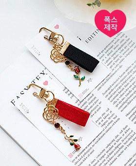 1049618 - [手工制作] Lena玫瑰皮条/束带钥匙圈