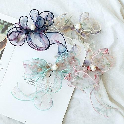 1049678 - <HA765_EG03>珍珠花缝蝴蝶结发夹