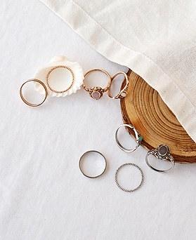 1049679 - <RI875_AC06> [4个1集]古董Stones集环