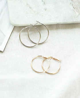 1050061 - <ER2248_CD07> [6个1集]基本环集耳环
