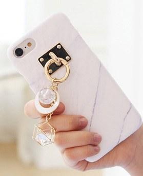 1050116 - TriCozy Marble Circle 3D弧形iPhone兼容硬壳