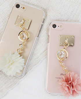 1050122 - Tricozy Flower Ball iPhone兼容透明果冻盒